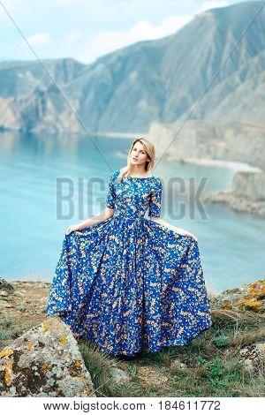 Beautiful Attractive Blond Caucasian Girl Model