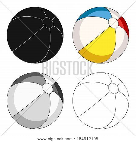Inable multicolored ball.Summer rest single icon in cartoon style vector symbol stock web illustration.