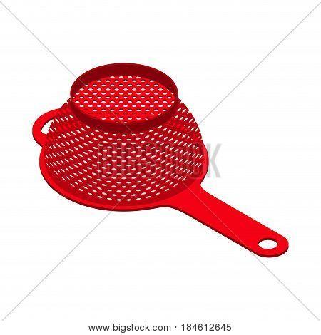 Colander Isolated Isometry. Pastafarianism Cap. Cooking Utensils