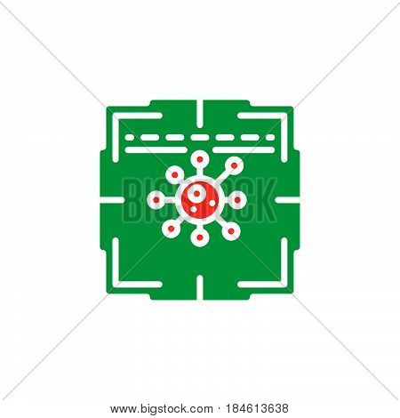Antivirus scanner icon vector filled flat sign solid colorful pictogram isolated on white. Symbol logo illustration