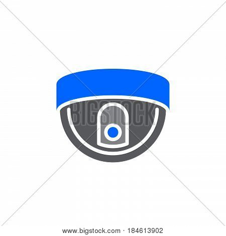 Dome camera icon vector filled flat sign solid colorful pictogram isolated on white. Surveillance symbol logo illustration