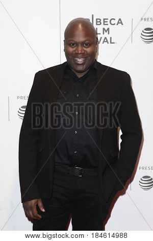 NEW YORK-APR 28: Titus Burgess attends the 'Unbreakable Kimmy Schmidt' screening at BMCC at PAC during the 2017 TriBeCa Film Festival on April 28, 2017 in New York City.