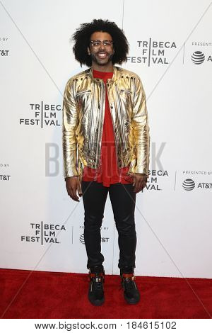 NEW YORK-APR 28: Daveed Diggs attends the 'Unbreakable Kimmy Schmidt' screening at BMCC at PAC during the 2017 TriBeCa Film Festival on April 28, 2017 in New York City.