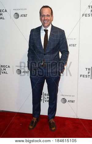 NEW YORK-APR 28: Robert Carlock attends the 'Unbreakable Kimmy Schmidt' screening at BMCC at PAC during the 2017 TriBeCa Film Festival on April 28, 2017 in New York City.