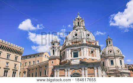 Rome, Italy -  Santa Maria Di Loreto Church