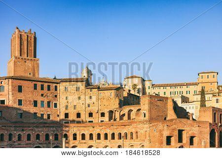 Rome, Italy -  Trajan Forum (foro Traiano)