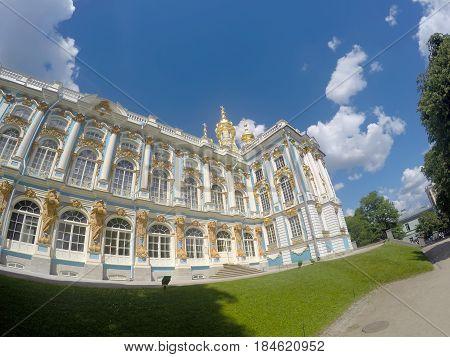 Katherines Palace hall in Tsarskoe Selo (Pushkin) Russia