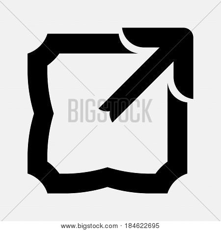 icon arrow to expand the image full Screen scale the image fully editable vector image