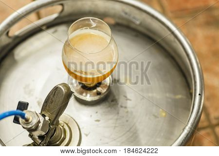 Wheat Beer On A Keg