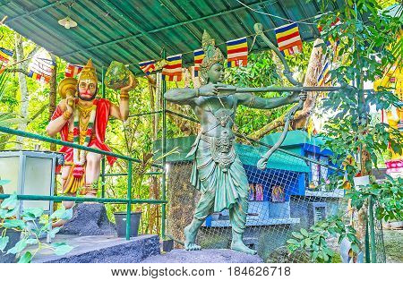 The Statues Of Hindu Gods