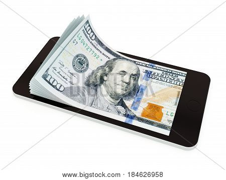 Mobile Payment With Smart Phone, American Dollar