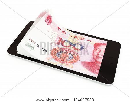 Mobile Payment With Smart Phone, Chinese Yuan