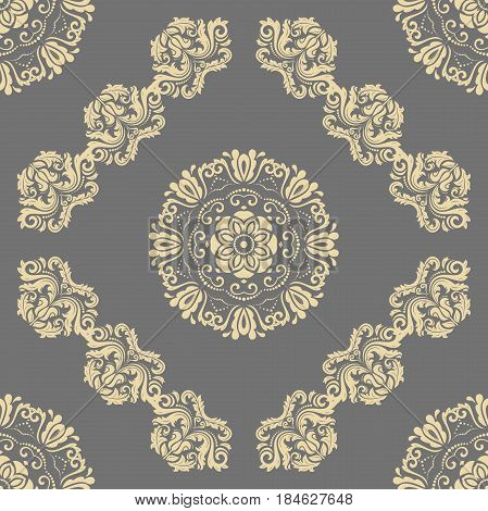 Orient vector classic pattern. Seamless abstract background with repeating elements. Orient background