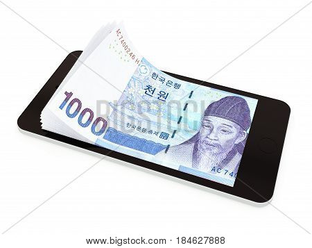 Mobile Payment With Smart Phone, Korean Won