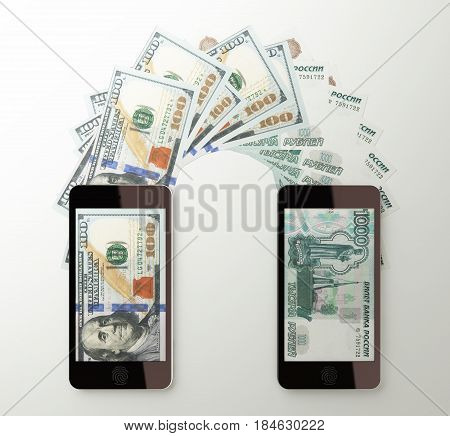 International Mobile Money Transfer, Dollar To Russian Rubles