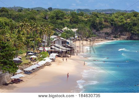 Bali, Indonesia - September 20, 2016: Balangan Beach in Bali, Indonesia