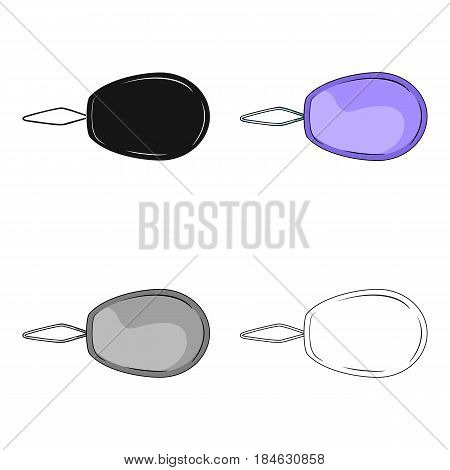 Device for threading the needle.Sewing or tailoring tools kit single icon in cartoon style vector symbol stock web illustration.