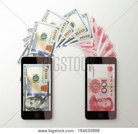 International Mobile Money Transfer, Dollar To Chinese Yuan