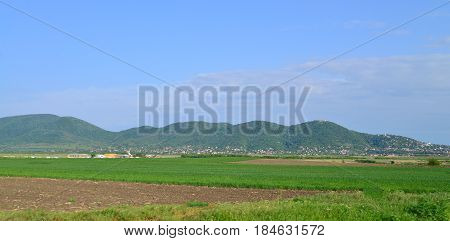 Vrsac town Serbia Mountains countryside landscape panorama
