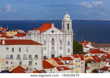 View on Igreja de Santo Estevao. Lisbon. Portugal