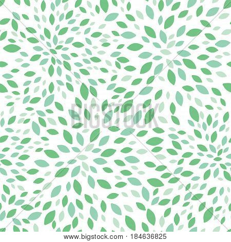 Vector spring green leaves bursts seamless repeat pattern design background texture. Perfect for modern greeting cards, wallpaper, fabric, home decor, wrapping projects. Repeat pattern design.