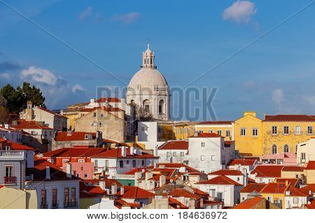 View on National Pantheon and and Church of Santa Engracia.