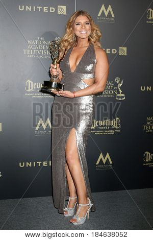 LOS ANGELES - APR 30:  Gaby Natale,, SuperLatina in the 44th Daytime Emmy Awards Press Room at the Pasadena Civic Auditorium on April 30, 2017 in Pasadena, CA
