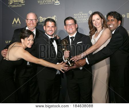 LOS ANGELES - APR 30:  Outstanding Drama Series Writing Team, The Young and The Restless in the 44th Daytime Emmy Awards Press Room at the Pasadena Civic Auditorium on April 30, 2017 in Pasadena, CA