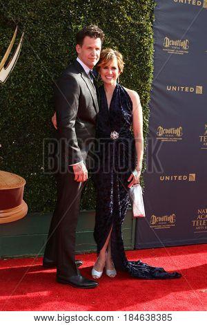 LOS ANGELES - APR 28:  Matt Aldag, Natalia Livingston at the 2017 Creative Daytime Emmy Awards at the Pasadena Civic Auditorium on April 28, 2017 in Pasadena, CA