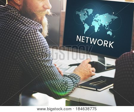 Global Network Connection Internet Worldwide