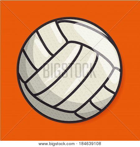 volleyball sport ball isolated icon vector illustration design