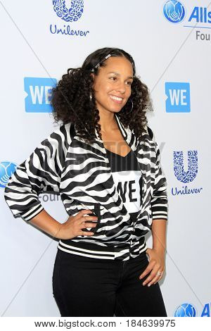 , LOS ANGELES - APR 27:  Alicia Keys at the We Day California 2017 at The Forum on April 27, 2017 in Inglewood, CA