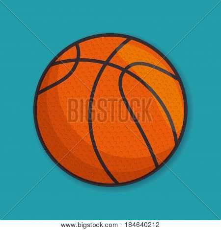 basketball sport ball isolated icon vector illustration design