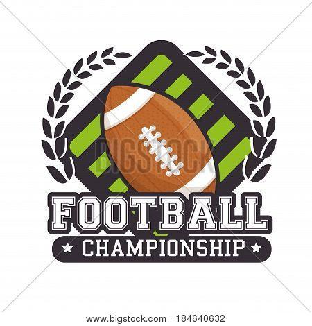 american football sport ball isolated icon vector illustration design