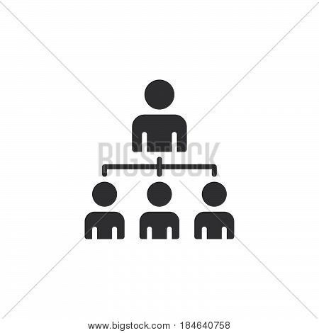 Organizational structure of the company icon vector filled flat sign solid pictogram isolated on white. Leadership symbol logo illustration