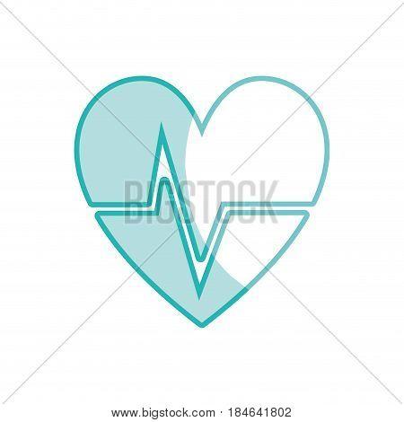 silhouette nice heartbeat to cardiac rhythm, vector illustration design