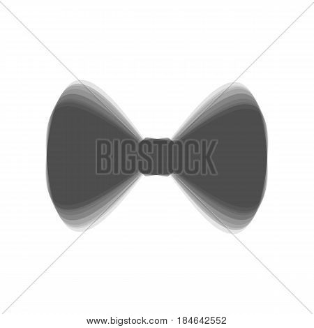 Bow Tie icon. Vector. Gray icon shaked at white background.