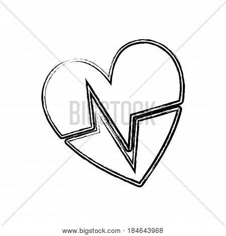 figure nice heartbeat to cardiac rhythm, vector illustration design