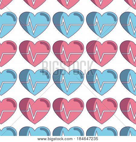 nice heartbeat to cardiac rhythm backgroud, vector illustration design
