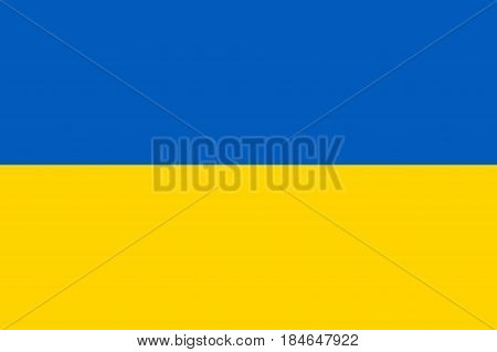 The state flag of Ukraine in original colors and with correct proportion