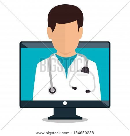 digital healthcare technology icon vector illustration design