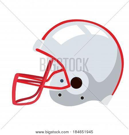 Isolated football helmet on a white background, Vector illustration