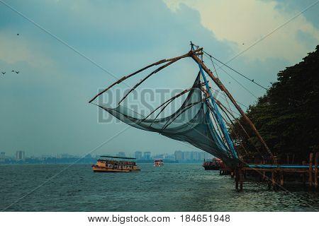 Chinese Fishing Nets In Fort Kochi.