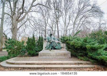 Statue Of Anonymous - Notary Of King Bela. Budapest, Hungary