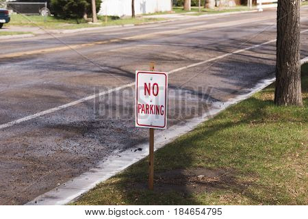 No Parking Sign On Street