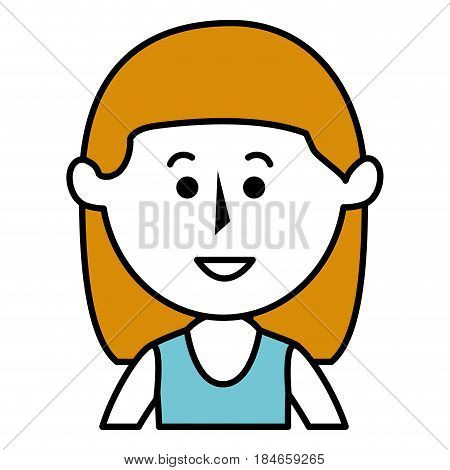 beautifull mother avatar character vector illustration design