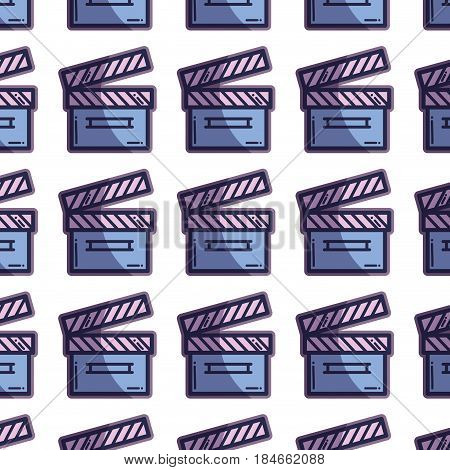 clapper board action video filmstrips background, vector illustration
