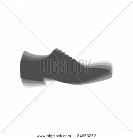 Men Shoes sign. Vector. Gray icon shaked at white background.