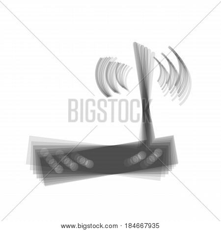 Wifi modem sign. Vector. Gray icon shaked at white background.