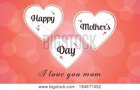 Happy mother day collection stock vector illustration